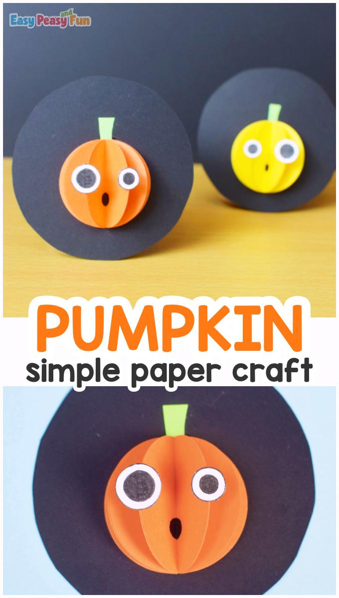 Simple Paper Pumpkin Craft for Kids
