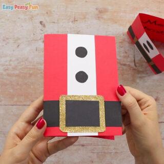 Simple Santa Christmas Card Idea