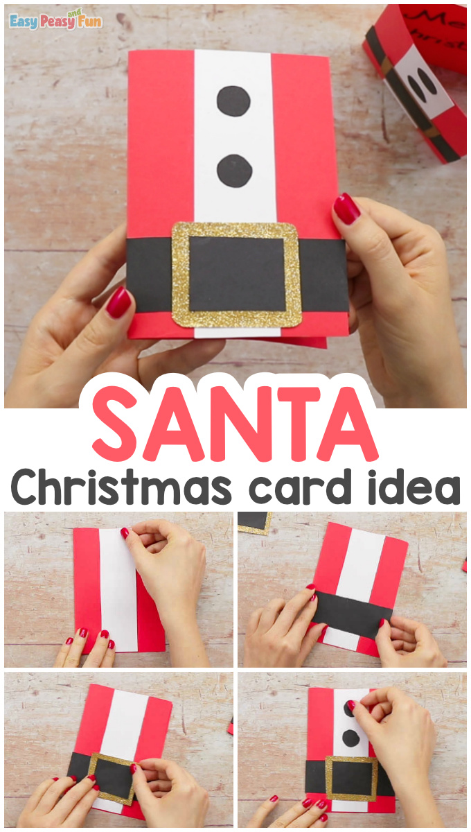 Simple Santa Christmas Card Easy Peasy And Fun