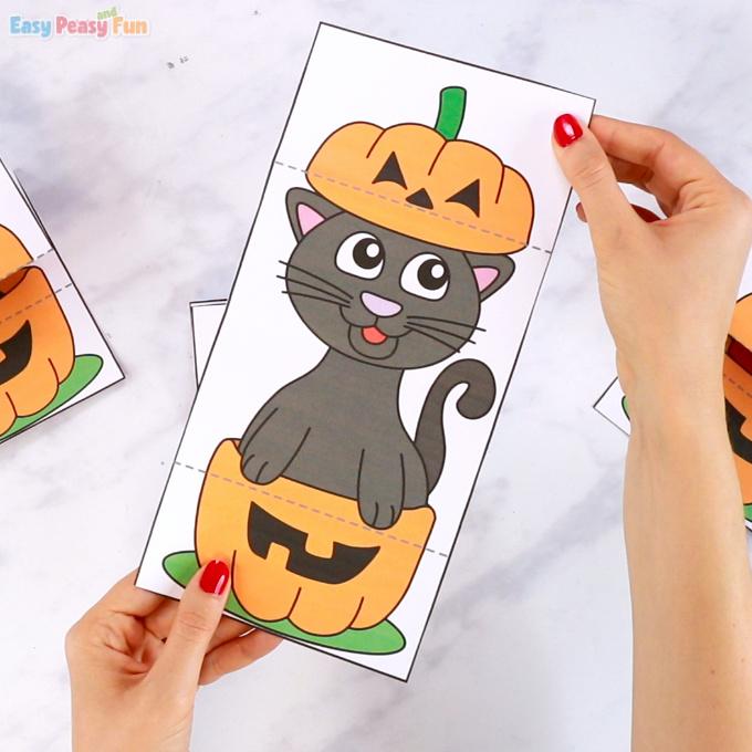 Surprise Pumpkin Halloween Cards Black Cat Printable