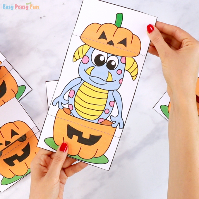 Surprise Pumpkin Halloween Cards Monster Printable