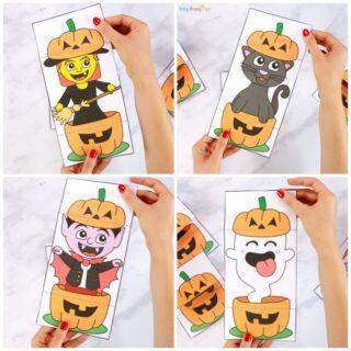 Surprise Pumpkin Halloween Cards Printables