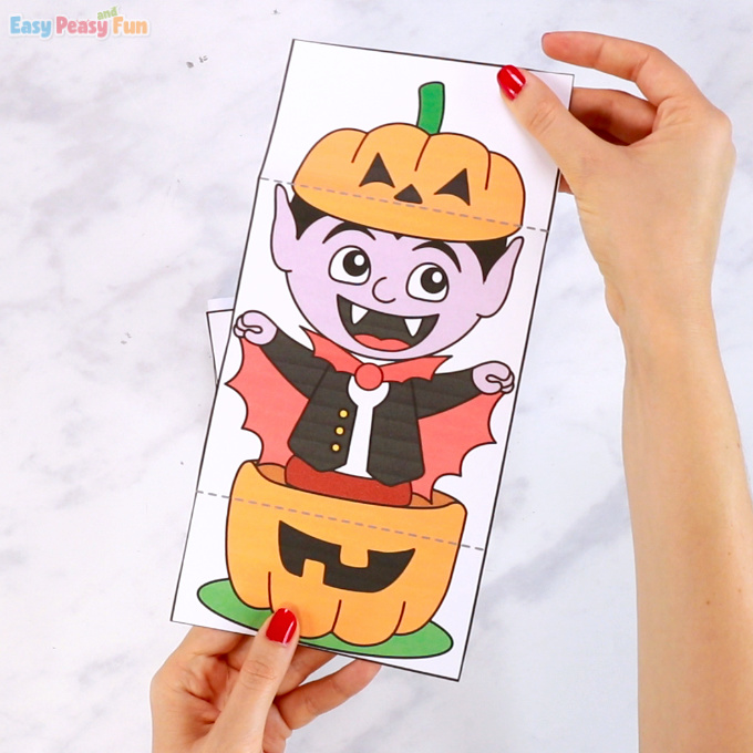 Surprise Pumpkin Halloween Cards Vampire Printable