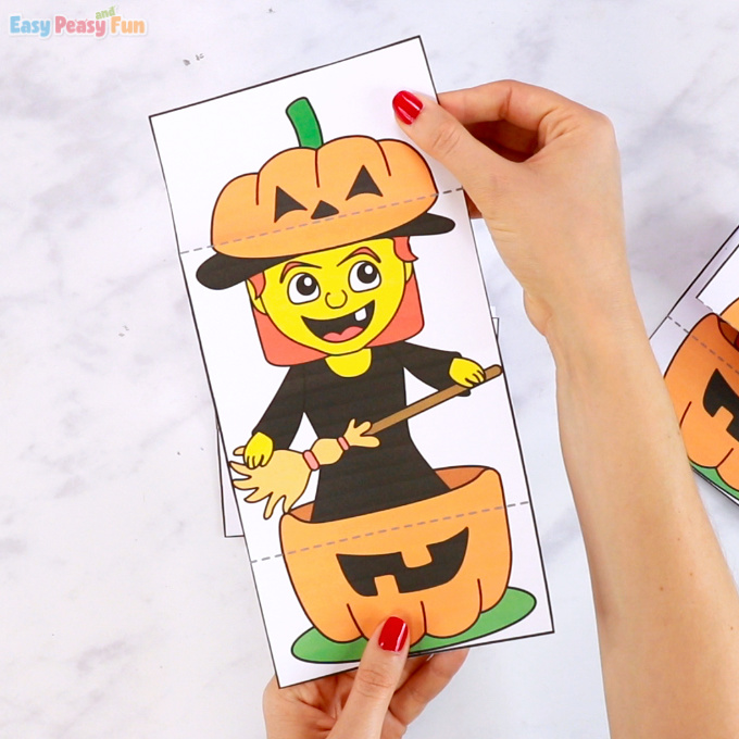 Surprise Pumpkin Halloween Cards Witch Printable