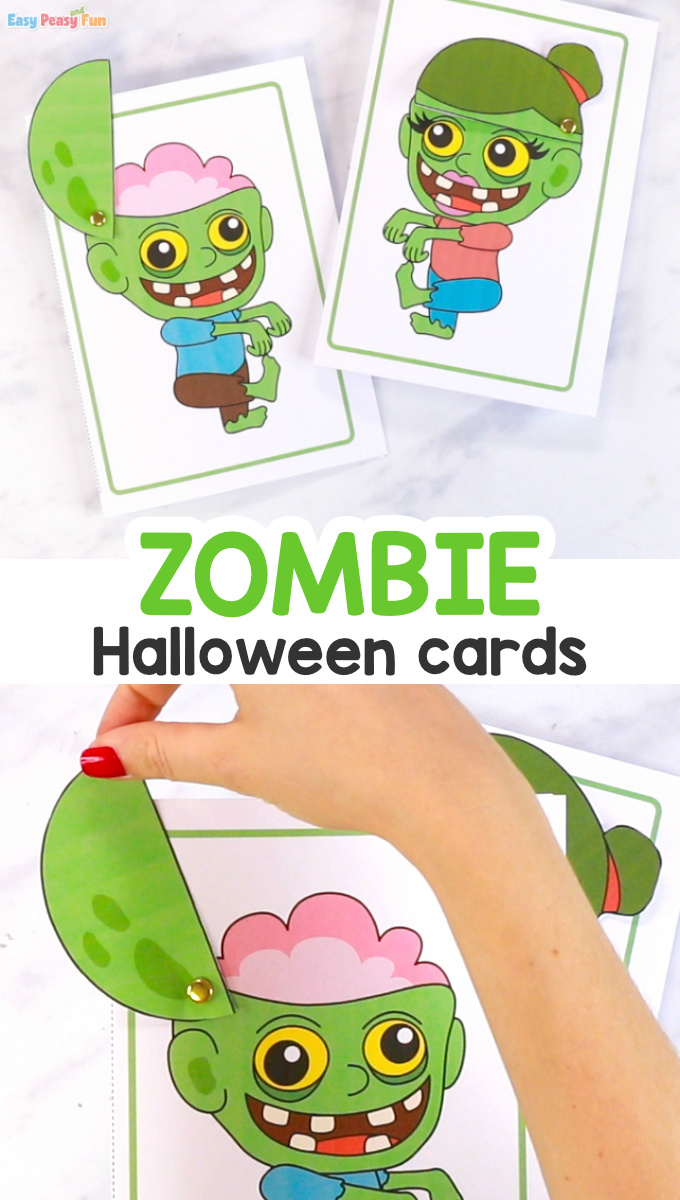Zombie Printable Halloween Card
