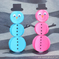 Paper Circles Snowman Craft