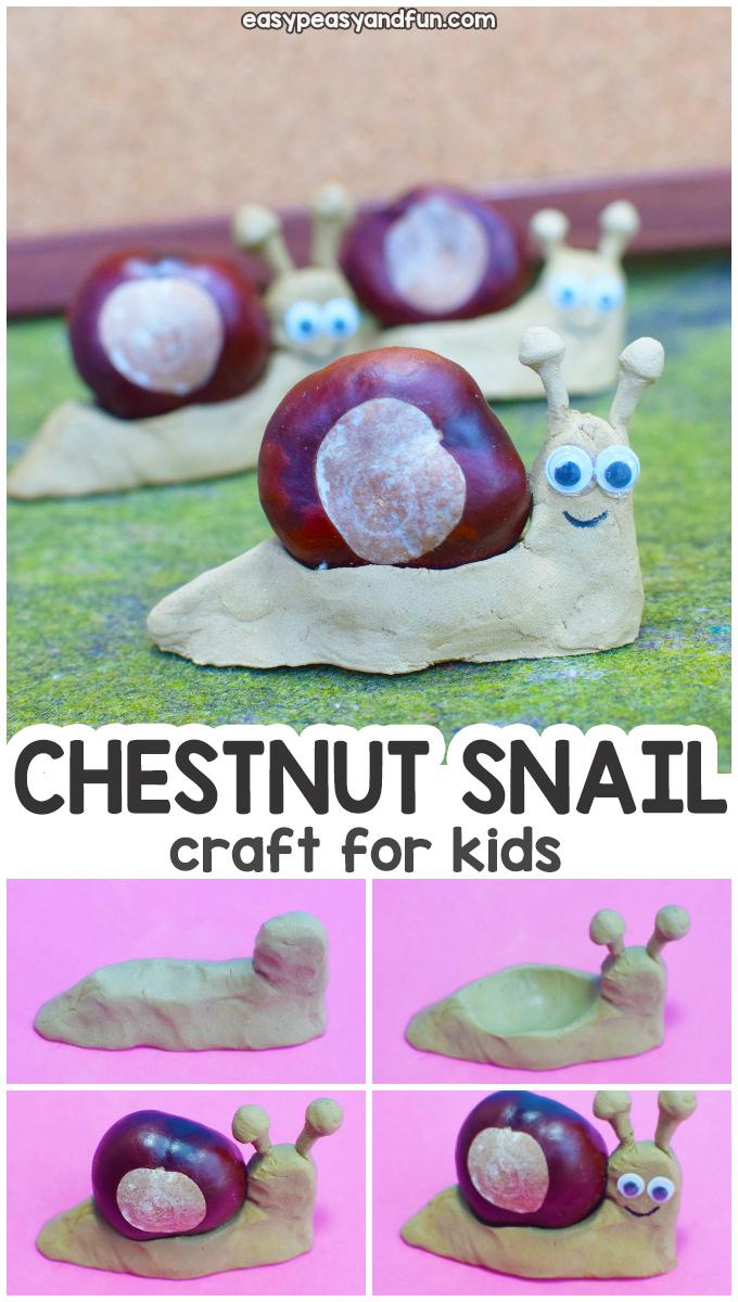 Chestnut Snail Craft for Kids