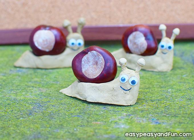 Chestnut Snail Craft for Kids to Make