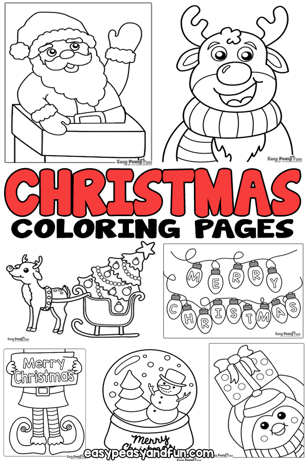 Christmas Coloring Pages - lots of fun designs for all ages