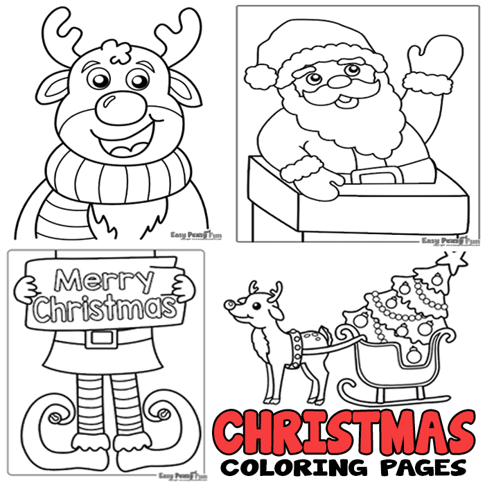- Christmas Coloring Pages - Easy Peasy And Fun