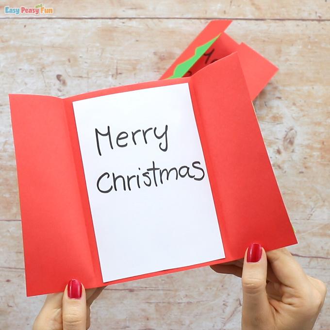 Christmas Tree Card Idea for Kids