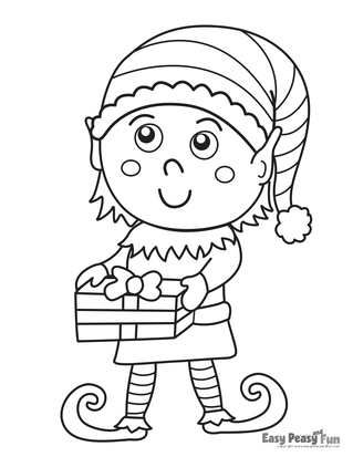 Christmas Coloring Pages - Easy Peasy and Fun