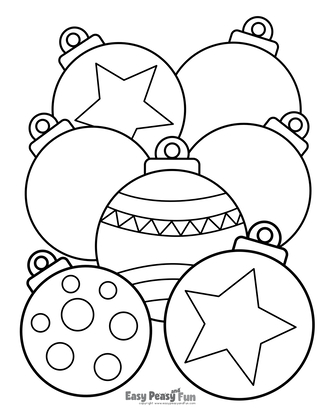 Christmas Baubles Coloring Paage