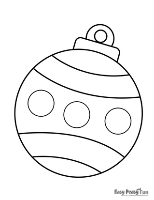 Bauble Coloring Page