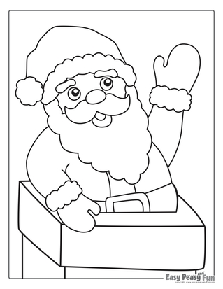 Santa Christmas Coloring Pages - Jolly Santa | 413x319
