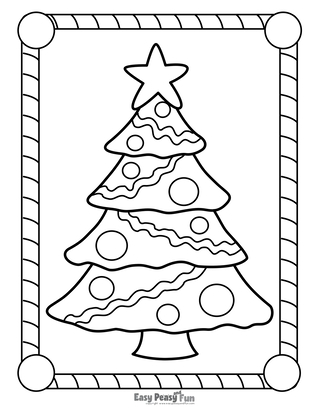 Christmas Coloring Pages Easy Peasy And Fun