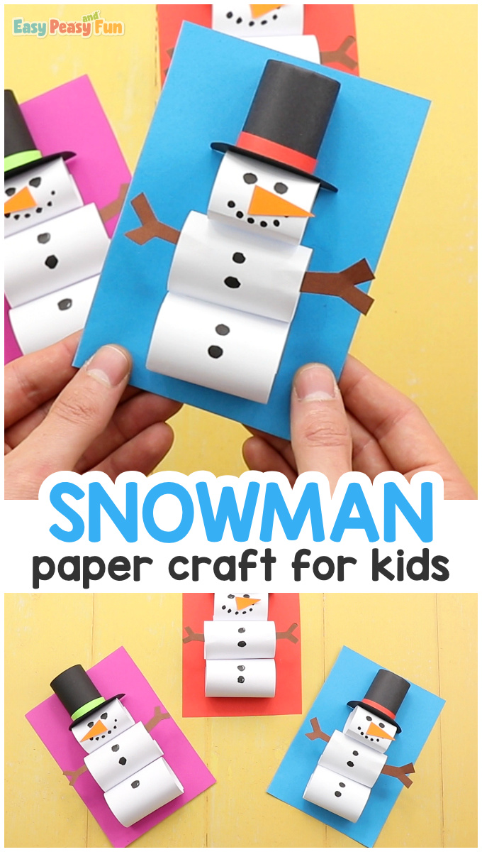 How To Make A Paper Snowman Craft Easy Peasy And Fun