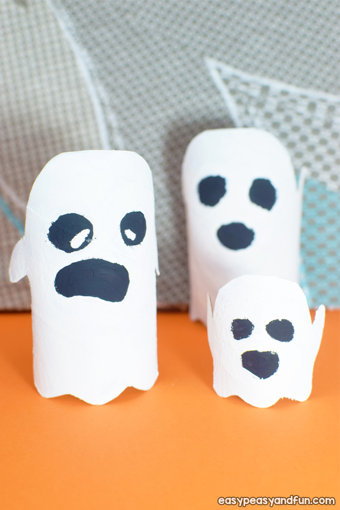 Ghost Toilet Paper Roll Craft for Kids
