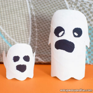 Ghost Toilet Paper Roll Craft for Kids to Make