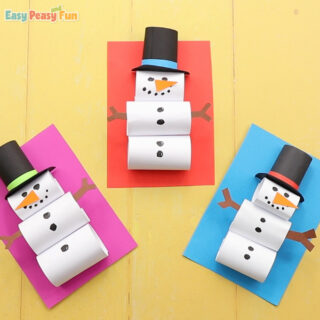 How to Make a Paper Snowman Craft for Kids