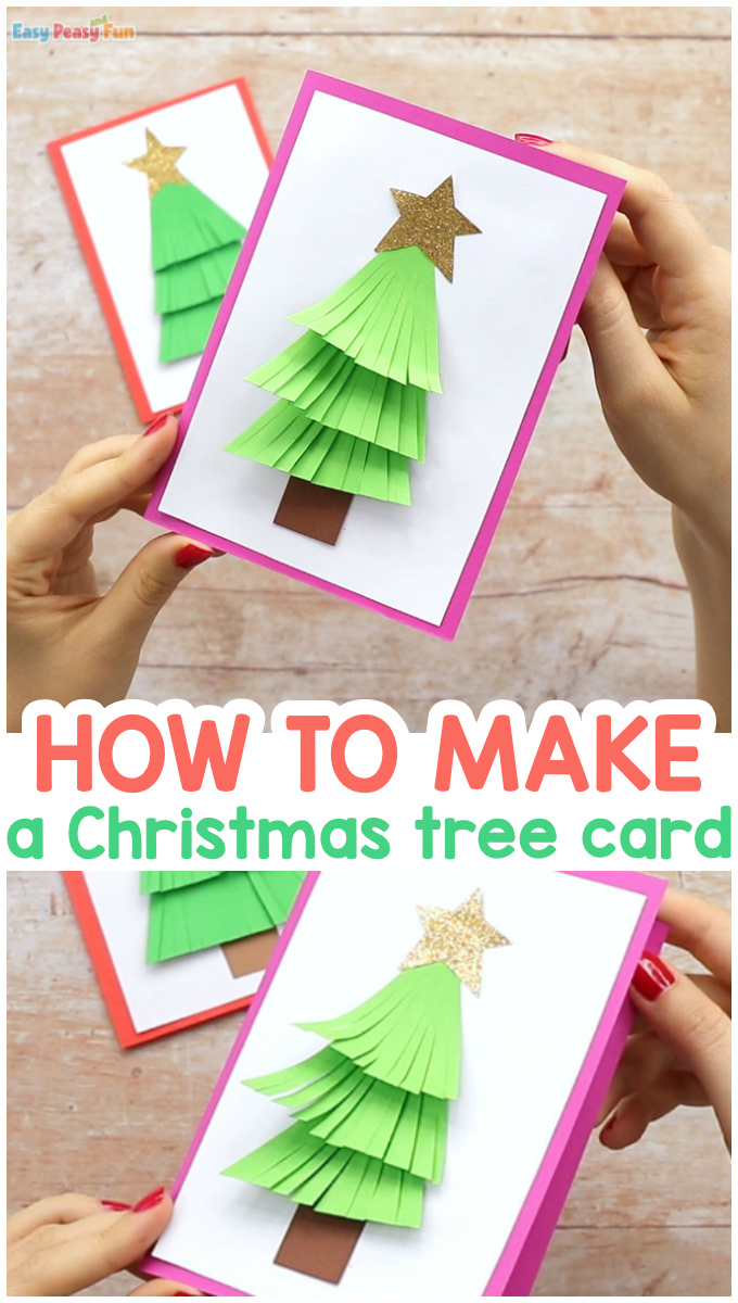 How to make a Paper Christmas Tree Card Craft for Kids