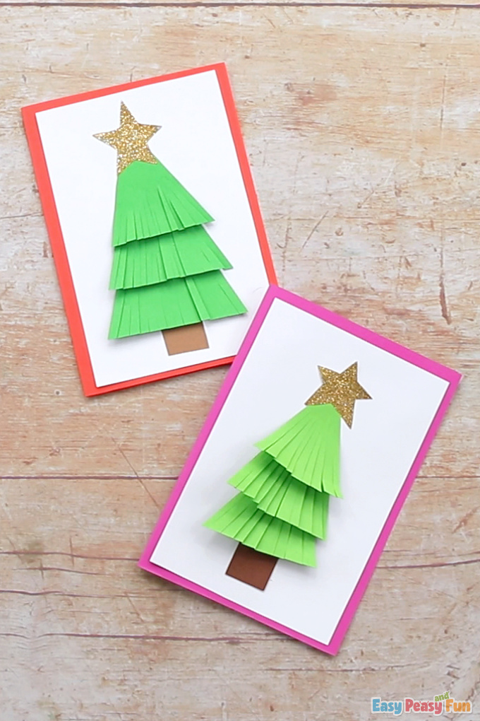 How To Make A Paper Christmas Tree Card Easy Peasy And Fun