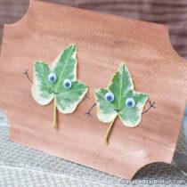 Simple Leaf Art Idea
