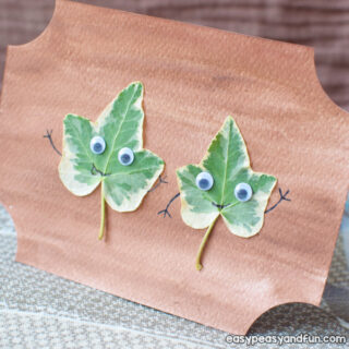 Leaf Friends Craft for Kids to Make