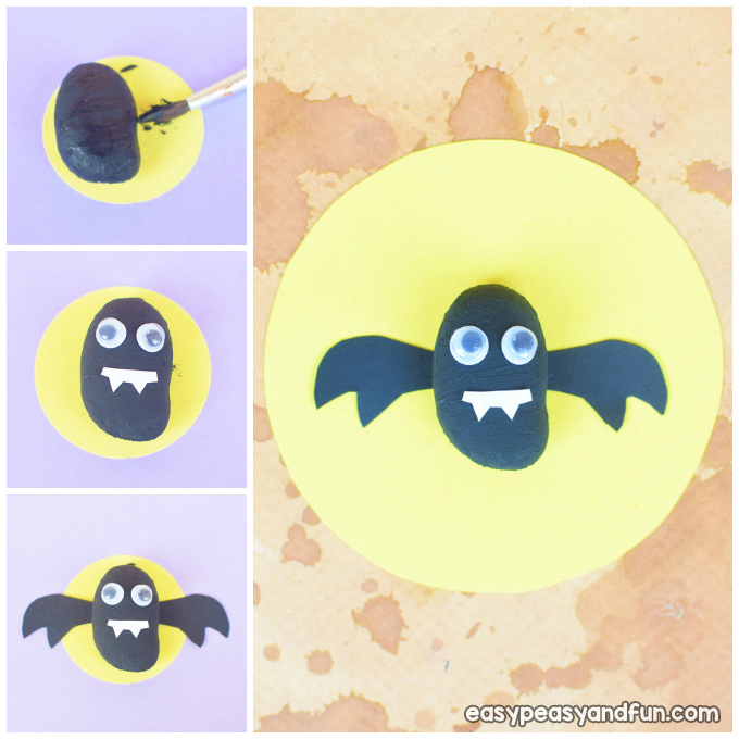 Painted Rock Bats Craft Idea