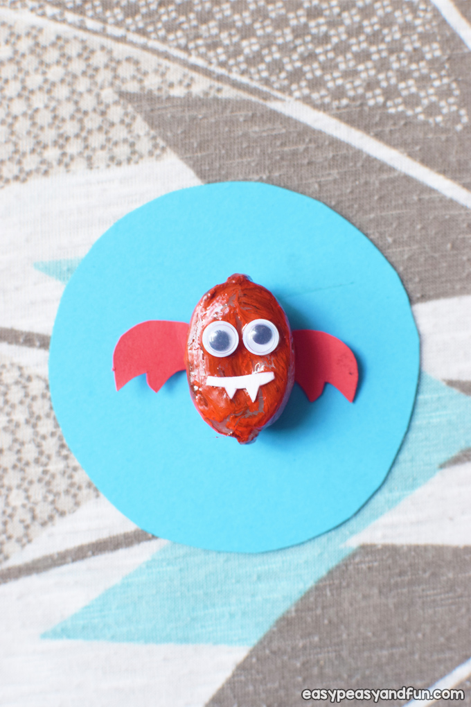 Painted Rock Bats Craft for Kids