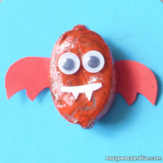 Painted Rock Bats Craft for Kids to Make