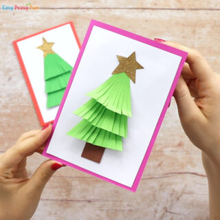 Paper Christmas Tree Card