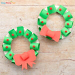 Paper Christmas Wreath Craft for Kids