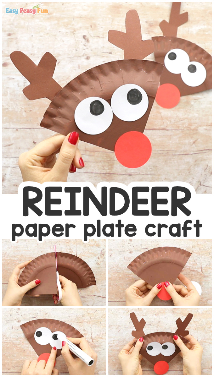 Paper Plate Reindeer Craft Idea for Kids