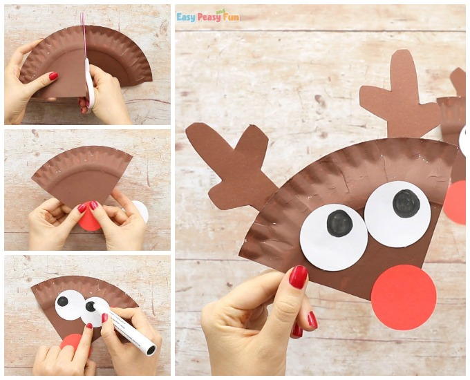 Paper Plate Reindeer Craft Idea