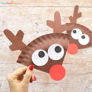 Paper Plate Reindeer Craft for Kids
