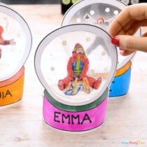 Photo Snowglobe Craft for Kids – Christmas Keepsake or Ornament
