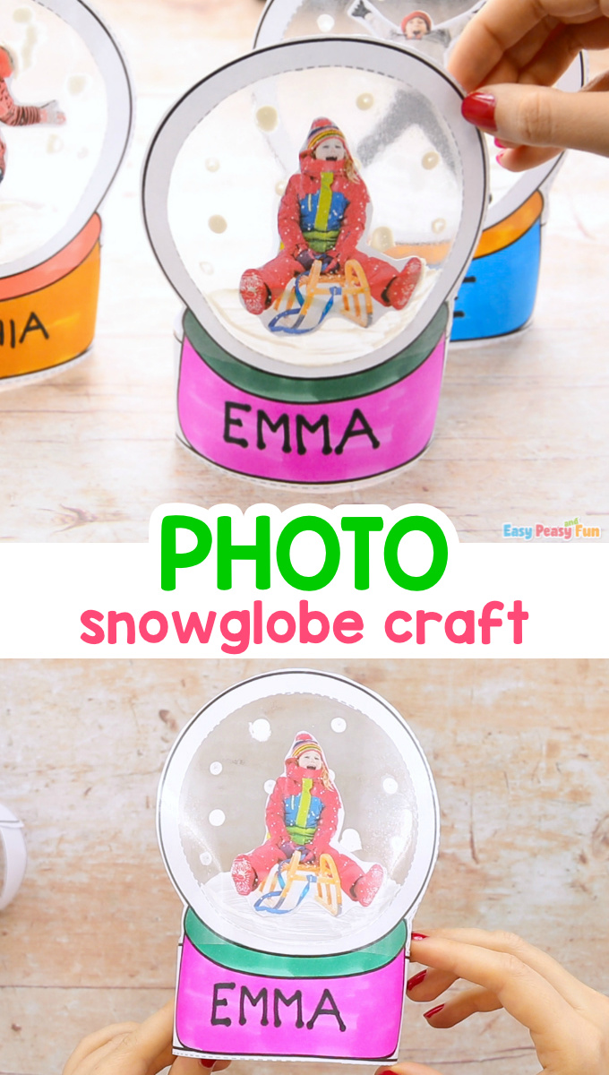 Photo Snowglobe Craft for Christmas - Ornament or Keepsake for Kids to Make