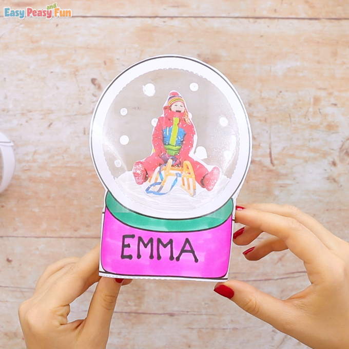 Photo Snowglobe Craft for Kids