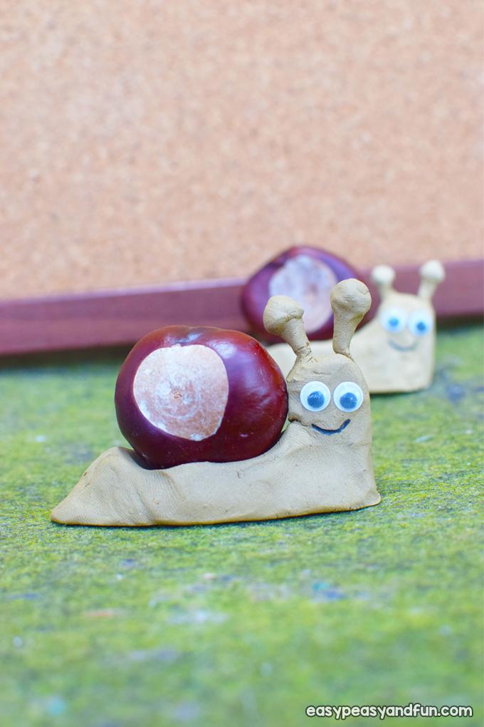 Simple Chestnut Snail Craft for Kids