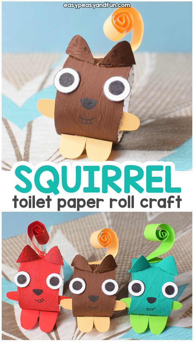 Squirrel Toilet Paper Roll Fall Craft Idea