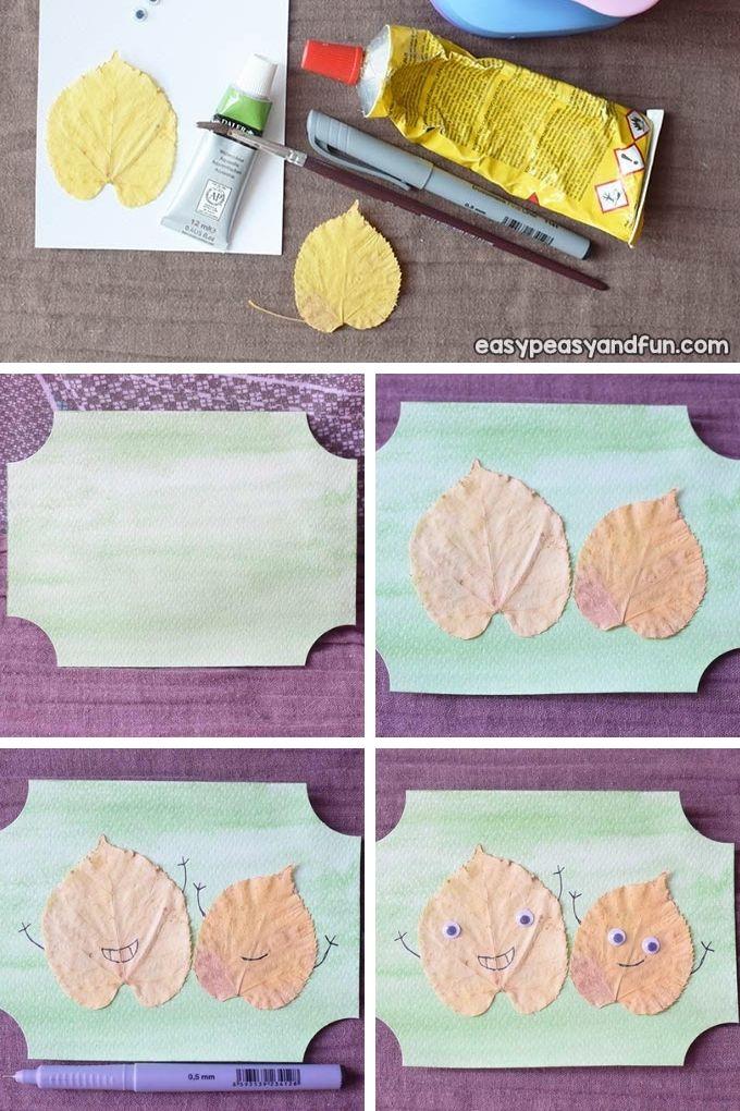 Kleine Freunde Leaf Craft für Kinder