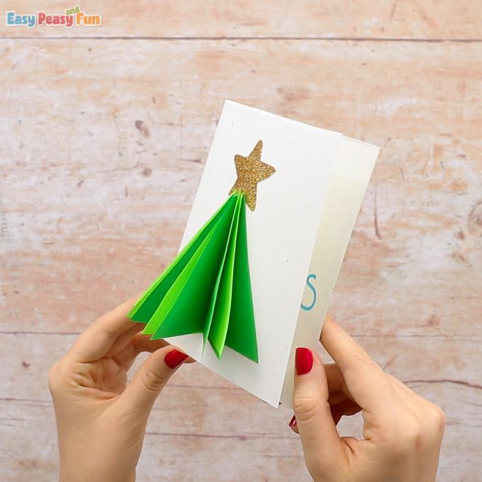 3D Christmas Tree Card Idea
