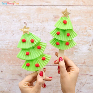 Cupcake Liners Christmas Tree Craft