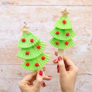 Cupcake Liners Christmas Tree Craft