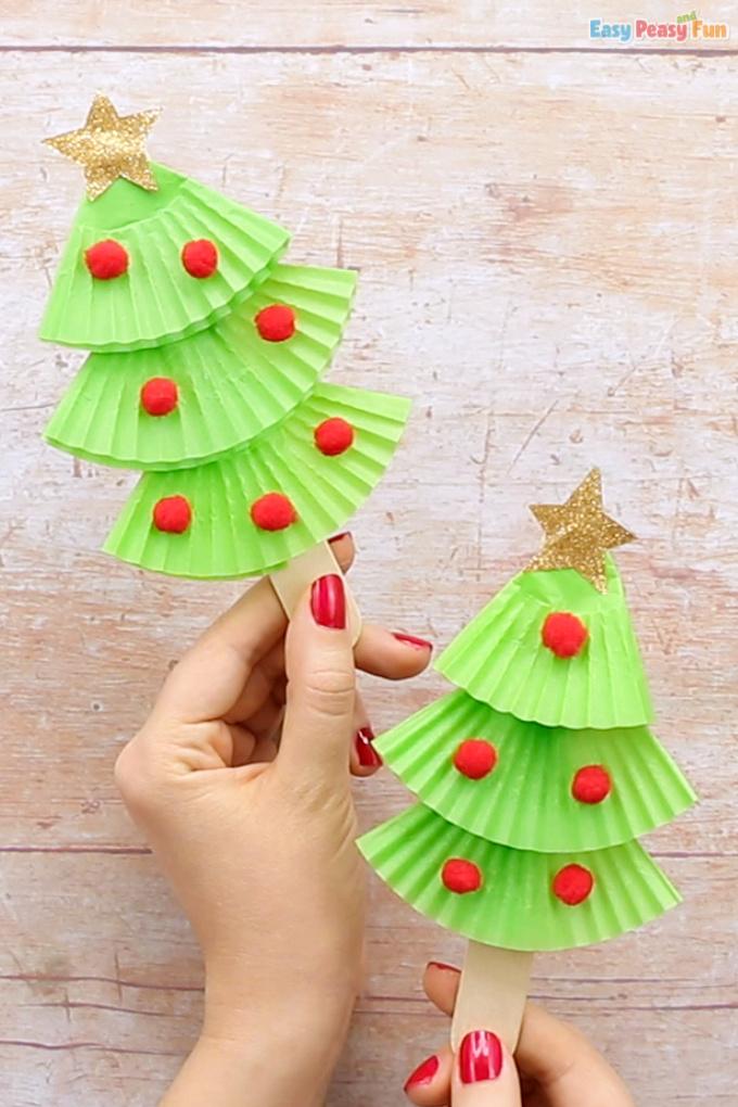 Cupcake Liners Christmas Tree