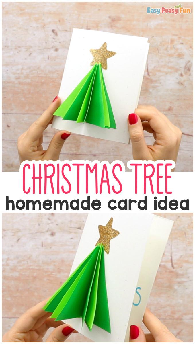 Homemade 3D Christmas Tree Card