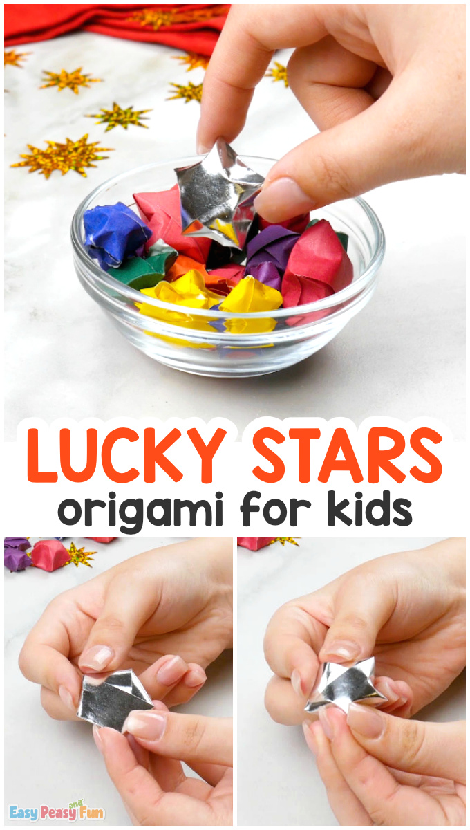 How to Make Origami Lucky Stars Paper Craft for Kids