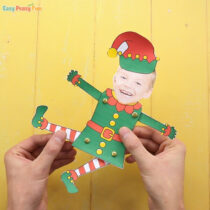 Movable Paper Doll Christmas Photo Craft