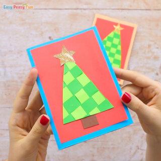 Paper Weaving Christmas Tree Card